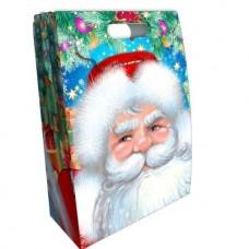Новогодний подарок: Дед Мороз  с масками. Вес 1462гр Размер 23*10*31 см.