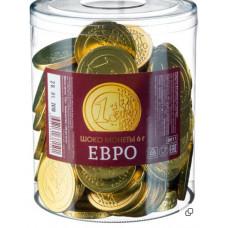 """""""Шоколадные монеты Евро""""вес 6 гр. Блок 120 шт. Монетный двор"""