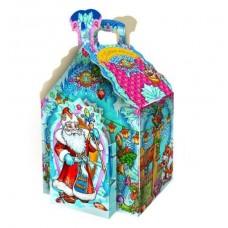 """Новогодний подарок: """"Морозко"""", изба.  Вес 980 гр. Размер 18,8х14,6х29,7 см."""