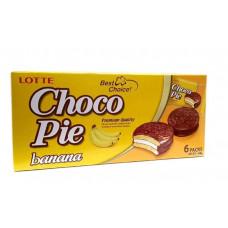 Шоколадные пирожные Чоко Пай (Choco Pie) вкус банан. Orion (6шт.), 168 гр.