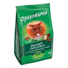 «Ореховичи», конфета «Фундук Петрович» в молочной шоколадной глазури, 200 гр.
