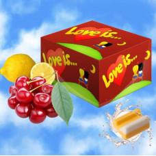 Love is вишня лимон. Жевательная резинка.Блок 100 шт.