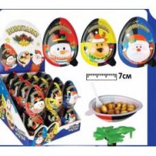 Яйцо с сюрпризом-Новогодики. Вес 15 гр. Блок 24 шт.