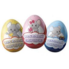 Яйцо с сюрпризом. Забавные мышата. Вес 20 гр. Блок 24 шт.