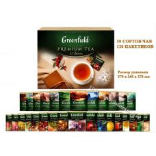 Чай Гринфилд Подарочный набор (Праздничный дизайн) 30 сортов/120 пакетиков 210.40г