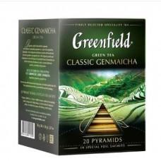 Чай зеленый Greenfield Classic Genmaicha с воздушным рисом в пирамидках, 20 шт.