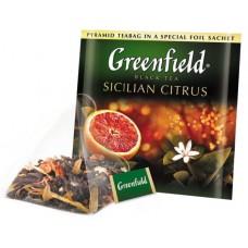 Чай черный Гринфилд Sicilian Citrus в пирамидках (20 х 1,8г)