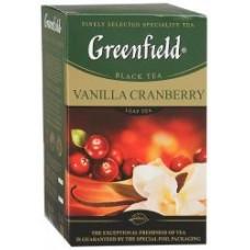 Чай Гринфилд Ванила Крэнберри  100 гр.