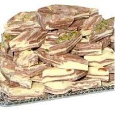 Халва Самаркандская-зебра с орехом. Вес 5 кг.