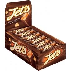 Шоколадные батончики «Jets» глазированный с печеньем 42 гр. В блоке 18 шт. Яшкино.