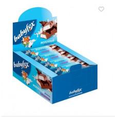 «BabyFox», шоколадный батончик с молочной начинкой, 47 г (упаковка 20 шт.)