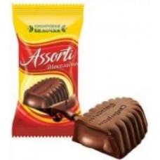 Конфеты Ассорти крем/шоколад. Вес 1 кг. Сибирская белочка.