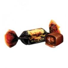"""Whisk On конфеты премиум класса с жидкой, алкогольной начинкой """" Виски""""  Вес 1 кг."""