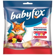 «BabyFox», мармелад воздушный, с соком ягод и фруктов, 100 гр. Яшкино