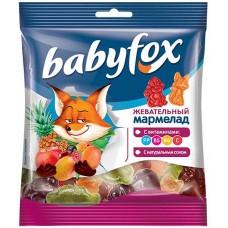 «BabyFox», мармелад жевательный с соком ягод и фруктов, 70 гр. Яшкино