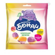 «Бегемотик Бонди», мармелад воздушный с соком ягод и фруктов, 100 гр.