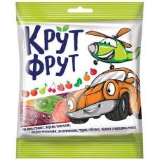 «КрутФрут», мармелад жевательный со вкусом малины/граната, персика/апельсина, экзотических, вишни/маракуйи, груши/яблока, черной смородины/мяты, 70 гр