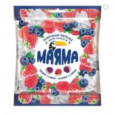 Жевательный мармелад «Маяма» с желейной начинкой со вкусом черники и малины со сливками. Вес 70 гр.