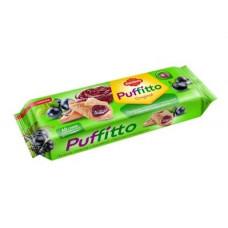 «Puffitto», печенье слоеное c начинкой «Черная смородина», 125 гр.