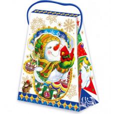 Новогодний подарок: Варежка снеговичка. Вес 300 гр.(20773)