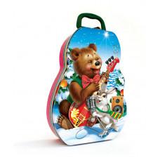 Новогодний подарок: Веселый медвежонок-жесть. Вес 300 гр.(20931)