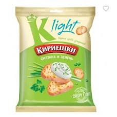 «Кириешки Light», сухарики со вкусом сметаны и зелени, 33 гр.  Халяль