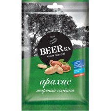«Beerka», арахис жареный, солёный, 90 гр. Яшкино