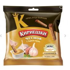 «Кириешки», сухарики со вкусом чеснока и сырным соусом, 85 гр.