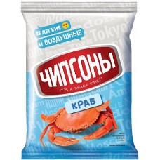 «Чипсоны», чипсы со вкусом краба, 40 гр. Яшкино