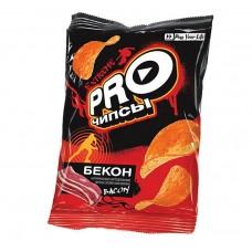 «PRO-Чипсы», чипсы со вкусом бекона, произведены из свежего картофеля, 60 гр. Яшкино
