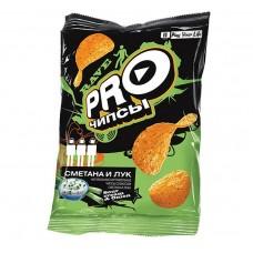 «PRO-Чипсы», чипсы со вкусом сметаны и лука, произведены из свежего картофеля, 60 гр. Яшкино