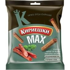 «Кириешки», сухарики со вкусом охотничьих колбасок, 40 гр. Яшкино