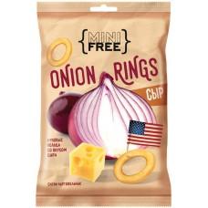 «Mini Free», луковые кольца со вкусом сыра, 45 г яшкино