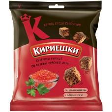 «Кириешки», сухарики со вкусом красной икры, 40 гр. Яшкино