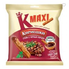 «Кириешки Maxi», сухарики со вкусом стейка с черным перцем и соусом барбекю, 80 гр.