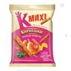 «Кириешки Maxi», сухарики со вкусом жареных креветок, 60 гр.