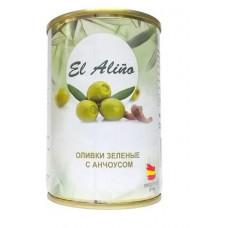 «EL alino», оливки крупные с анчоусами, 270 гр.