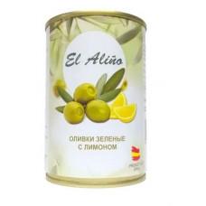 «EL alino», оливки крупные с лимоном, 270 гр.
