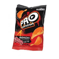 «PRO-Чипсы», чипсы со вкусом бекона, произведены из свежего картофеля, 150 гр.