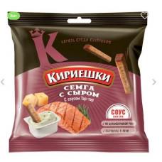 «Кириешки», сухарики со вкусом семги с сыром и соусом тар-тар, 85 гр.