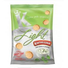 «Кириешки Light», сухарики со вкусом сметаны и зелени, 80 гр.