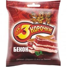 «3 Корочки», сухарики со вкусом бекона, 40 гр.