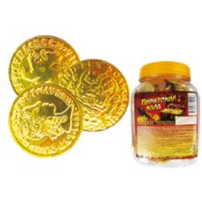 Пиратский клад-монетки. В блоке 100 шт. Вес 6 гр.Москва.