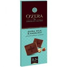 «OZera», шоколад молочный «Extra milk & Hazelnut», 90 гр. Яшкино