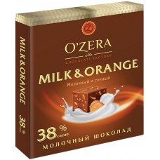 «OZera», шоколад молочный «Milk & Orange», 90 гр. Яшкино