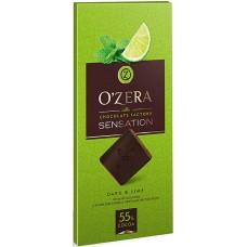 «OZera», шоколад горький с экстрактами лайма и мяты Dark & Lime, 100 гр. Яшкино