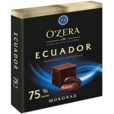 «OZera», шоколад «Ecuador», содержание какао 75%, 90 гр.