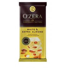 «OZera», шоколад White and Extra Almond, 90 гр.