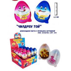 """Яйцо/десерт """"Чилдрен Той"""" с игрушкой Блок 32 шт. Вес 10 гр."""