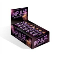 Шоколадные батончики «Импульс» Вес 16 гр В блоке 24 шт. Яшкино.